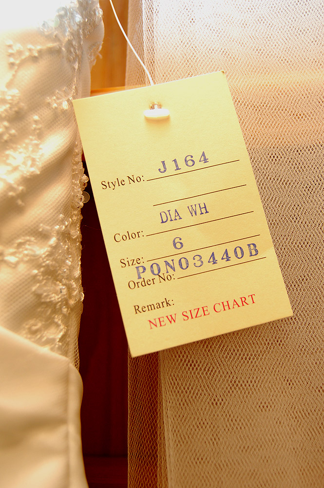 Wedding Gown Tag