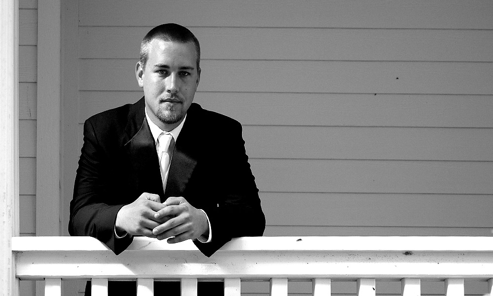 Groom on Porch