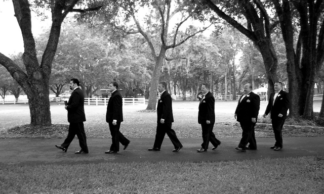 Pastor, Groom and Groomsmen
